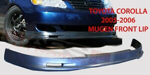 Mugen Style Front Lip For 2005 2006 Toyota Corolla Unpainted Polyproplyene