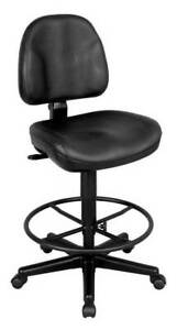 Premo Ergonomic Drafting Chair In Black Leather id 20975