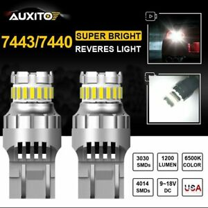 2x Auxito 7443 7440 Smd Led Back Up Reverse Light Bulbs 6500k Super White Canbus