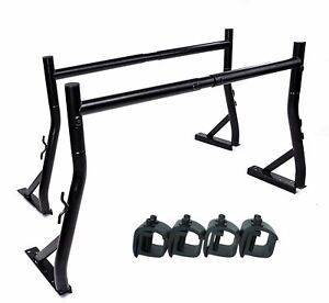 Truck Rack With 8 Non drilling C clamps Pick up Utility Ladder Racks Matte Black