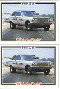 1965 Dodge Af X Awb Drag Car Baseball Card Sized Cards Must See Lot Of 2