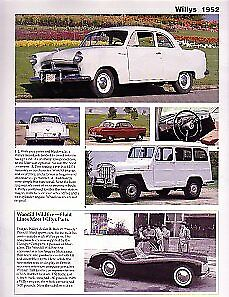 1952 Willys Aero Wing Lark Jeep Station Wagon Woodill Wirdfire Article
