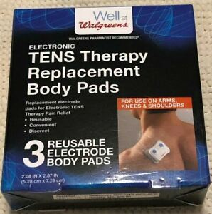 TENS Therapy Electronic Replacement Body Pad Electrode Therapy Pain Relief 3pack