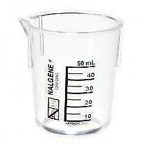 Beaker Set 50 Ml Each Of Nalgene Pyrex And Glass 3 Items