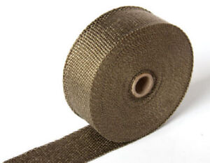 2 50ft Roll Titanium Fiberglass Exhaust Header Pipe Heat Wrap Tape 6 Ties Kit