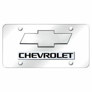 Chevrolet Chrome Stainless Steel License Plate X d chv 2 cc