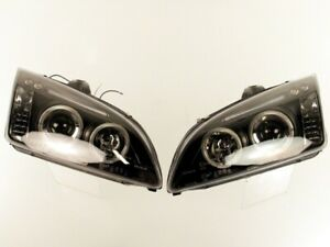 Smoked Head Lamps Fits Ford Focus 2005 2008 Pair
