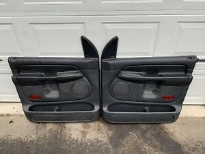 2002 2005 Dodge Ram Quad Cab Front Door Panels Black 2003 2004 1500 2500 Oem