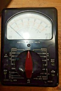 Vintage Triplett Model Analog Voltmeter Type 2