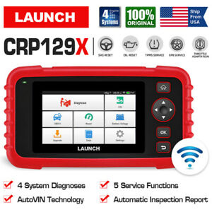 Launch Obd2 Scanner Engine Abs Airbag Transmission Diagnostic Tool Epb Sas Reset