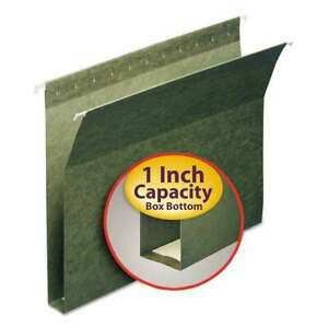 Smead 1 Capacity Box Bottom Hanging File Folders Letter Green 086486642392