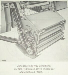 John Deere 80 82 Hay Conditioner fits 880 Windrower Parts Catalog Manual Book