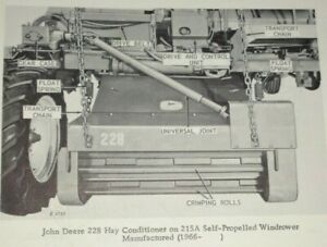 John Deere 228 Hay Conditioner fits 215a Windrower Parts Catalog Manual Book