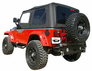 Replacement Soft Top Tinted Windows Rampage 99515 1997 2006 For Jeep Wrangler