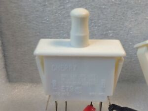 Cherry Pull push Button Switch Dpdt 10a 125v 250 Vac Refrigerator Door Type
