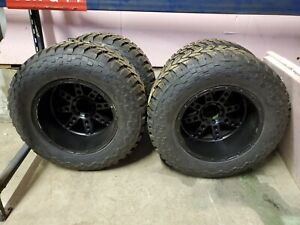 40 15 50 22 On 22x14 Black Rims 8 On 6 5 Humvee Duramax Cummins Powerstroke 3 4