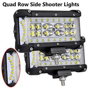 2x 5 Led Cube Lights Bar Side Shooter Atv Work Pod Fog Light Offroad Truck Bed