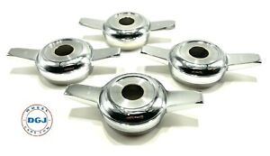 Zenith Cut Chrome Knock off Spinners For Lowrider Wire Wheels c