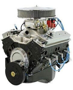 Gm 350ci Crate Engine Small Block Dressed Longblock With Carburetor Iron Heads