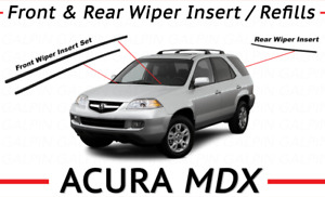 Genuine Oem Acura Mdx Wiper Insert Set Front And Rear 2001 2006 Inserts