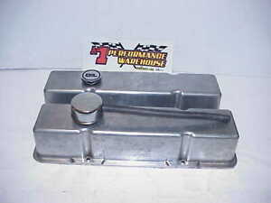 Tall Aluminum Valve Covers For Sb Chevy With Breather Imca Ump Nhra Figure 8