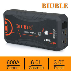 Biuble Heavy Duty 600a Usb Jump Starter Battery Car Power Bank Charger Booster