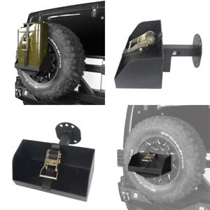 For 1997 2020 Jeep Wrangler Jerry Can Black Steel Spare Tire Mounting Bracket