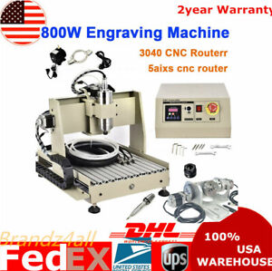 Usb 5 Axis Cnc 3040 Router Engraver 800w 3d Engraving Vfd Metal Milling Machine