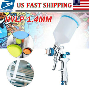 Hvlp 1 4mm Air Spray Nozzle Gun Kit Primer Gravity Feed Paint 30 80psi
