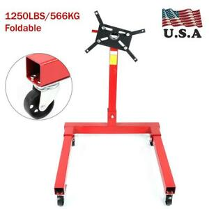 1250lbs 566kg Foldable Engine Overturn Stand Hoist 360degree Maintenance Support