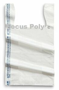 Small Plastic Bags White 1500 Count 8x4x15 Shopping Bags Grocery Bags