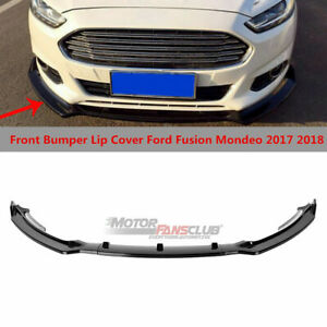 For Ford Fusion Mondeo 2017 2018 Glossy Black Front Bumper Chin Spoiler Lip 3pcs