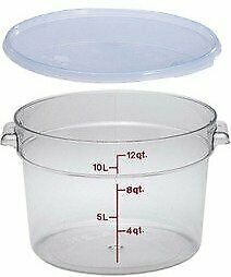 Camwear Polycarbonate Round Food Storage Containers 12 Qt 12 Qt With Lid