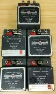 Gr Lot Of 5 General Radio 1409 f Standard Capacitor i 355