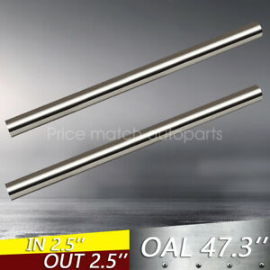 Pair 2 5 63mm T304 Stainless Steel Straight Exhaust Pipe Tube Piping Tubing