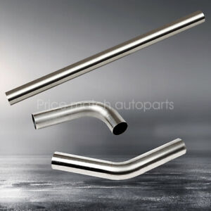 3 76mm Straight 45 90 Degree Bend T 304 Stainless Steel Exhaust Tube Pipe