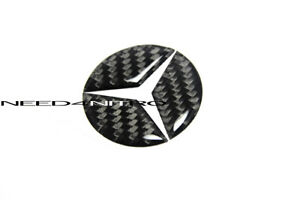 For 10 16 Mercedes E Class Steering Wheel Logo Carbon Fiber Sticker Trim 49mm