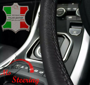 For Honda Element 03 11 Black Leather Steering Wheel Cover Black Stitchng