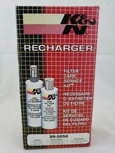 K N Air Filter Cleaning Kit 99 5050 Recharger Restore Spray Cleaner Oil
