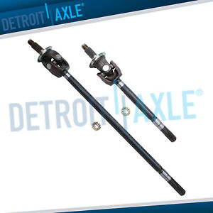 Front Left Right Cv Axle W u joint 9 25 For 2003 2008 Dodge Ram 2500 3500 4x4