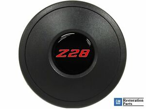 Vsw Standard S9 Black Horn Button With Red Chevy Camaro Z28 Emblem