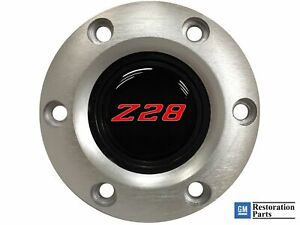 Volante S6 Brushed Horn Button Red Chevy Camaro Z28 Emblem