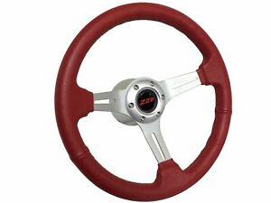 1969 1989 Chevy Camaro Z28 S6 Sport Leather Steering Wheel Red Kit