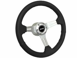 1969 1989 Chevy Camaro Z28 S6 Sport Black Leather Steering Wheel Brushed Kit