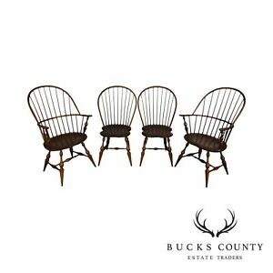 D R Dimes Set 4 Bowback Windsor Dining Chairs