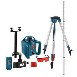 Rotary Laser Level Kit Self Leveling Recondition 800 Ft W Tripod Receiver
