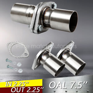 Pair 2pcs 2 25 Id Universal Quickfix Exhaust Triangle Flange Repair Pipe Kit