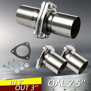 2 Pieces 3 Id Universal Quickfix Exhaust Triangle Flange Repair Pipe Kit
