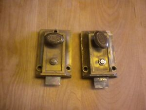 2 Vintage Eagle Dead Bolt Lock Door Cabinet Architecture Salvage