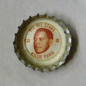 1960's Coca-Cola Bottle Caps Willie Davis Green Bay Packers Cleveland Browns